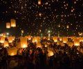 chiang mai thailand october 25 2014 floating lanterns yeepeng or loi krathong festival at chiang mai thailand_BDd3ig_hfe