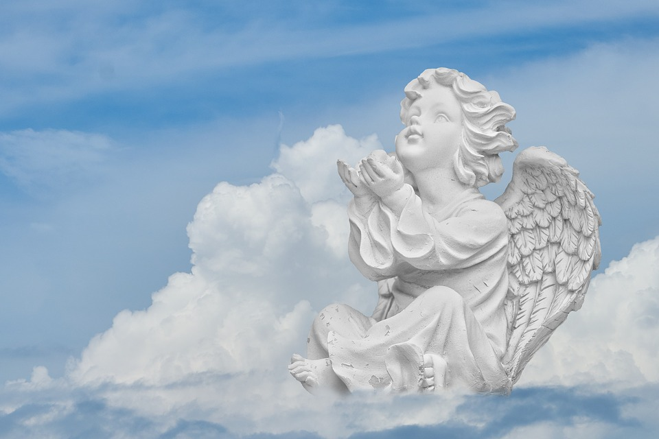 Pray Religion Heavenly Wing Faith Angel Sky